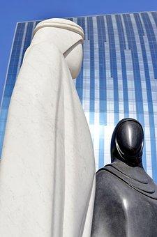 Dubai, Uae, Statue, Emirates, City, Architecture