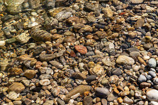 Stones, Bach, Water, Nature, Bank, Edge, Transition