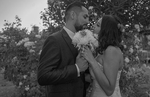 Marriage, Wedding, Love, Flowers, Looks, Kisses