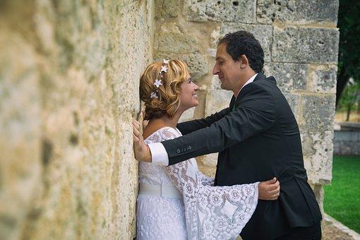 Wedding, Women, Husband, Marriage, Flowers, Love