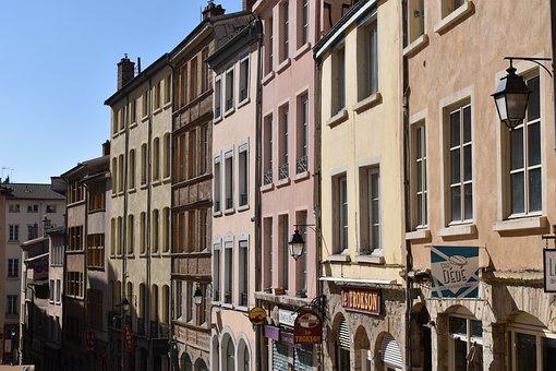 Lyon, Croix Rousse, Building, Façade, Hill