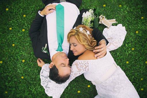 Wedding, Women, Husband, Marriage, Lawn, Flowers, Love