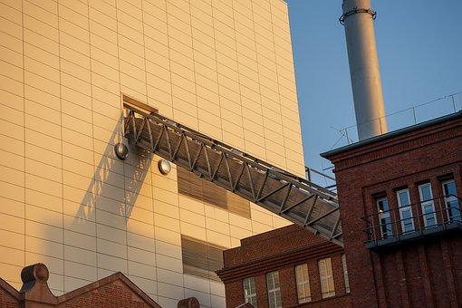 Industry, Factory, Conveyor Belt, Architecture