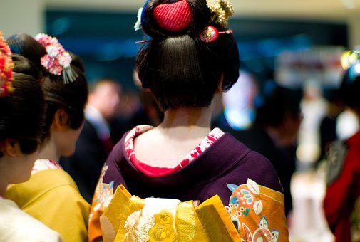 Geisha, Maiko, Neck, Japan