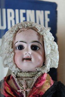 Doll, Savoie, Jean-de-maurienne, Child, Porcelain