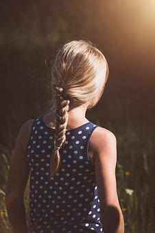 Girl, Blond, Summer, Out, Nature, Child, Female