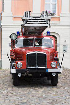 Fire, Auto, Red, Old, Oldtimer, Fire Truck, Vehicle