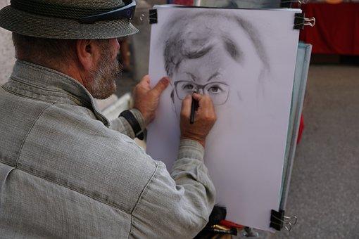 Painter, Man, Art, Painting, Culture, Pencil, Woman