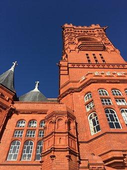 Pierhead, Building, Old, Cardiff, Cardiff Bay
