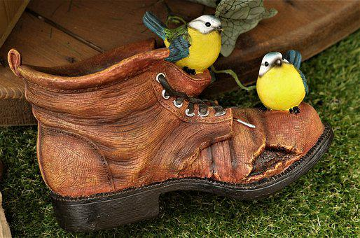 Birds, Ornament, Plastic, Ceramic, Garden