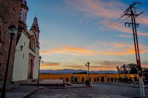 Sunset, Temple Of Mouths, Plaza, Bocas Slp