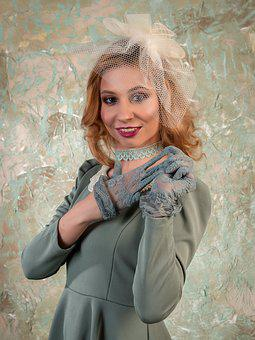 Removes A Glove, Gloves, Lace, Lace Gloves, Coquette