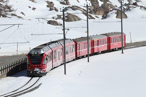 Rhaetian Railway, Rhaetian, Train, Rhb, Railway