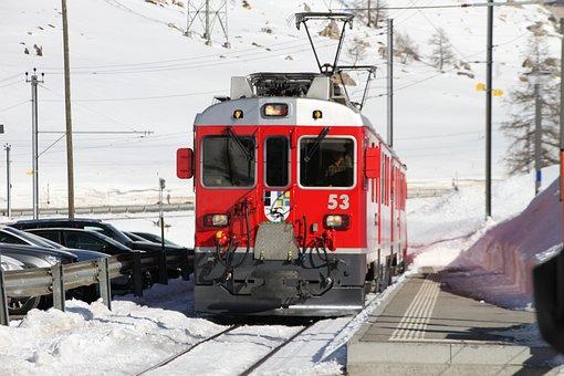 Rhb, Rhaetian Railway, Rhaetian, Train, Switzerland