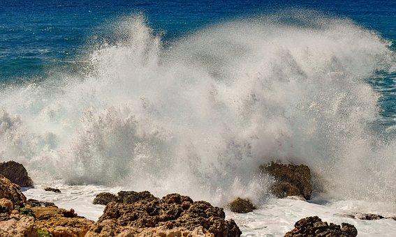 Rocky Coast, Wave, Crashing, Nature, Sea, Windy