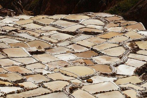 South America, Salt, Nature, Peru, Maras, Terraces