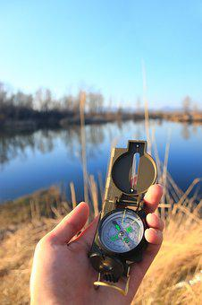 Compass, Lake, Water, Nature, Landscape, Summer, Sky