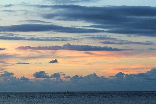 Langeoog, Sunset, Sky, East Frisia, Coast, North Sea