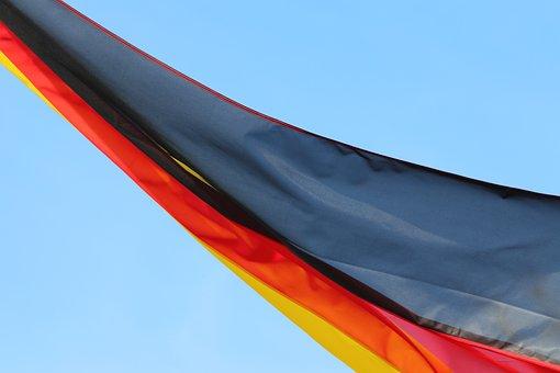 German National Flag, Mild Wind, Blue Sky, Symbol