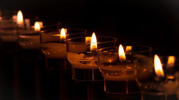 Candles, Tea Lights, Victim Candles, Light, Flame