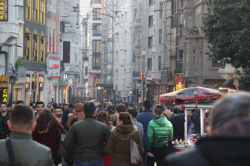 People, The Crowd, Taksim, Istiklal Street, Istanbul