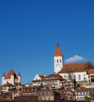 City, Castle, Thun, Bern, Architecture, Historic Center