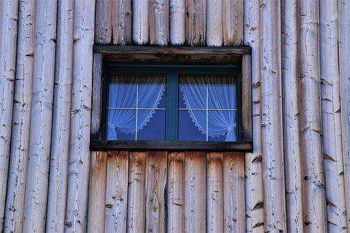 Wooden, Window, Alpine Style, Tautliner, Window Sill