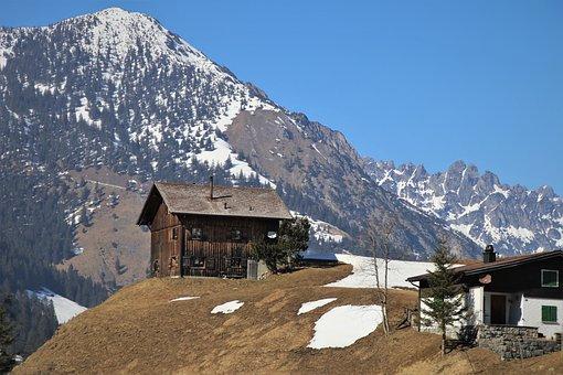 Wooden Cottage, Mountains, Wychodka, Hut, High