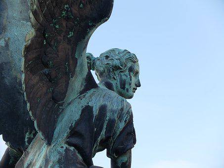 Angel, Potsdam, Sculpture, Figure, Statue