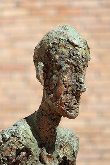 Sculpture, Bronze, Man, Art, Museum, Fondation Maeght