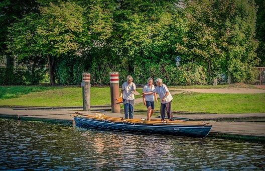 Water, Waters, Boat, Rowing Boat, Women, Personal
