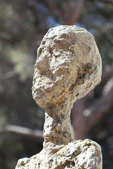 Sculpture, Bronze, Consider, Thinking, View, Man