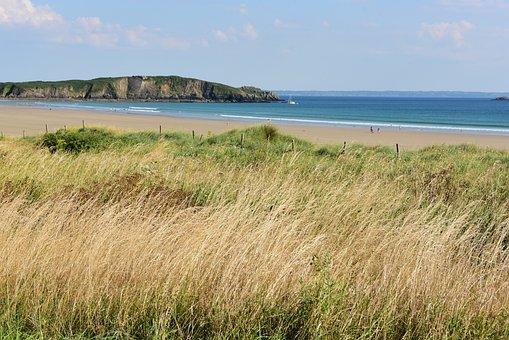 Brittany, Coast, Sea, Harmony, Summer, Vacations, Wide