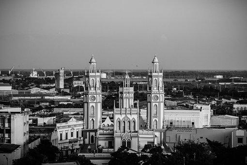 Barranquilla, Landscape, Light, Colombia, City