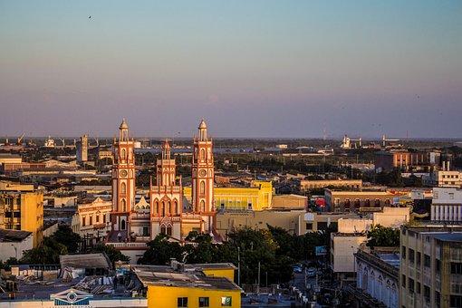 Barranquilla, Sunset, Landscape, Light, Colombia, City