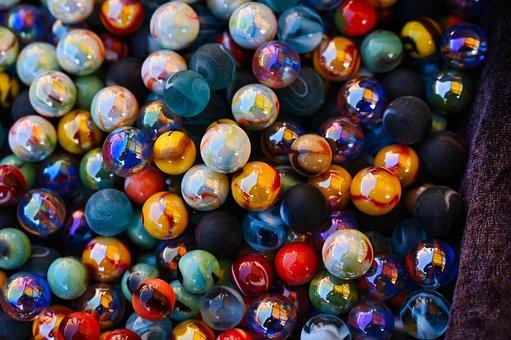 Marbles, Glaskugeln, Glass, Balls, Round, Glass Marbles