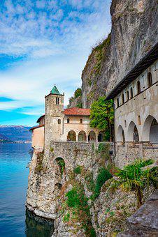Santa Caterina Del Sasso, Lago Maggiore, Hermitage
