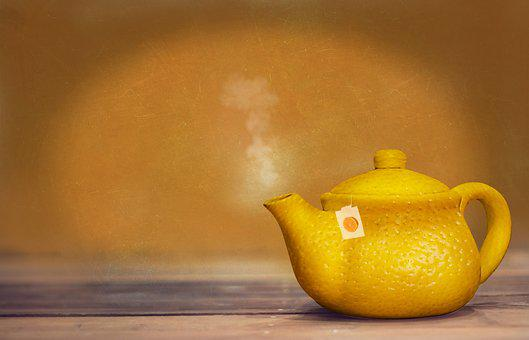 Tee, Teapot, Hot, Hot Drink, Lemon, Steam, Casting