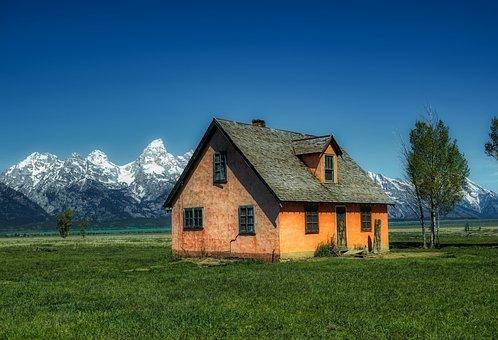 Wyoming, America, Grand Teton National Park, House
