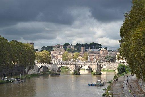 Rome, Italy, Tiber, Historical, Roman, History