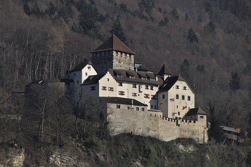 Liechtenstein, High, Castle, Princely, Landscape, Rock