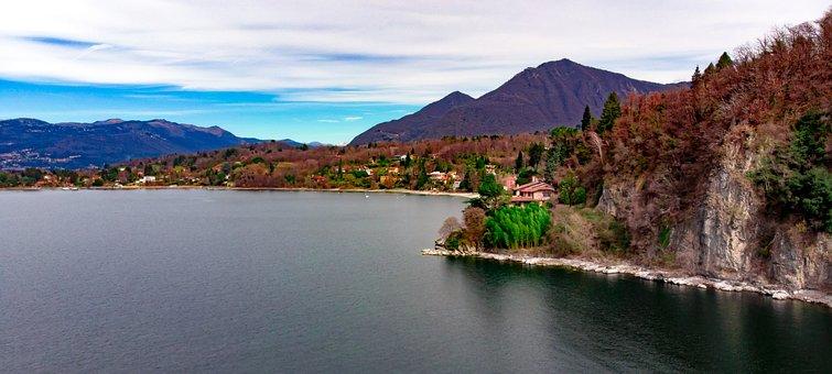 Lago Maggiore, Leggiuno, Landscape, Overview, Mountain