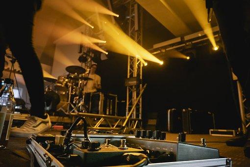 Band, Stage, Pedalboard, Effektgerät, Effect, Light