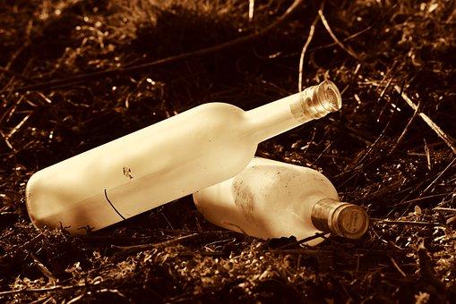 Bottle, Opal Glass, Drink, Liquid, Wine, Celebration