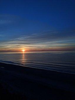 Sunrise, Myrtle Beach, Atlantic Ocean, Morning Sun