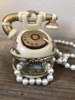Jewelry, Trinket Box, Pearls, Shabby Chic, Box, Gift