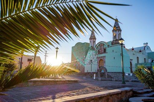 Dawn, Plaza, Bocas Slp, Hacienda De Bocas Slp