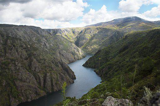 River, Landscape, Nature, Clouds, Damp, Mountains