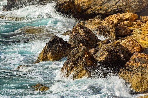 Wave, Crushing, Rocky Coast, Rock, Nature, Sea, Wild