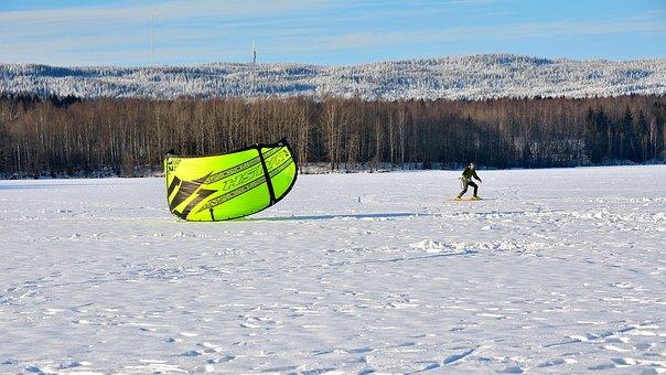 Snow-kiting, Winter, Sport, Skis, Kite-surfing, Snow